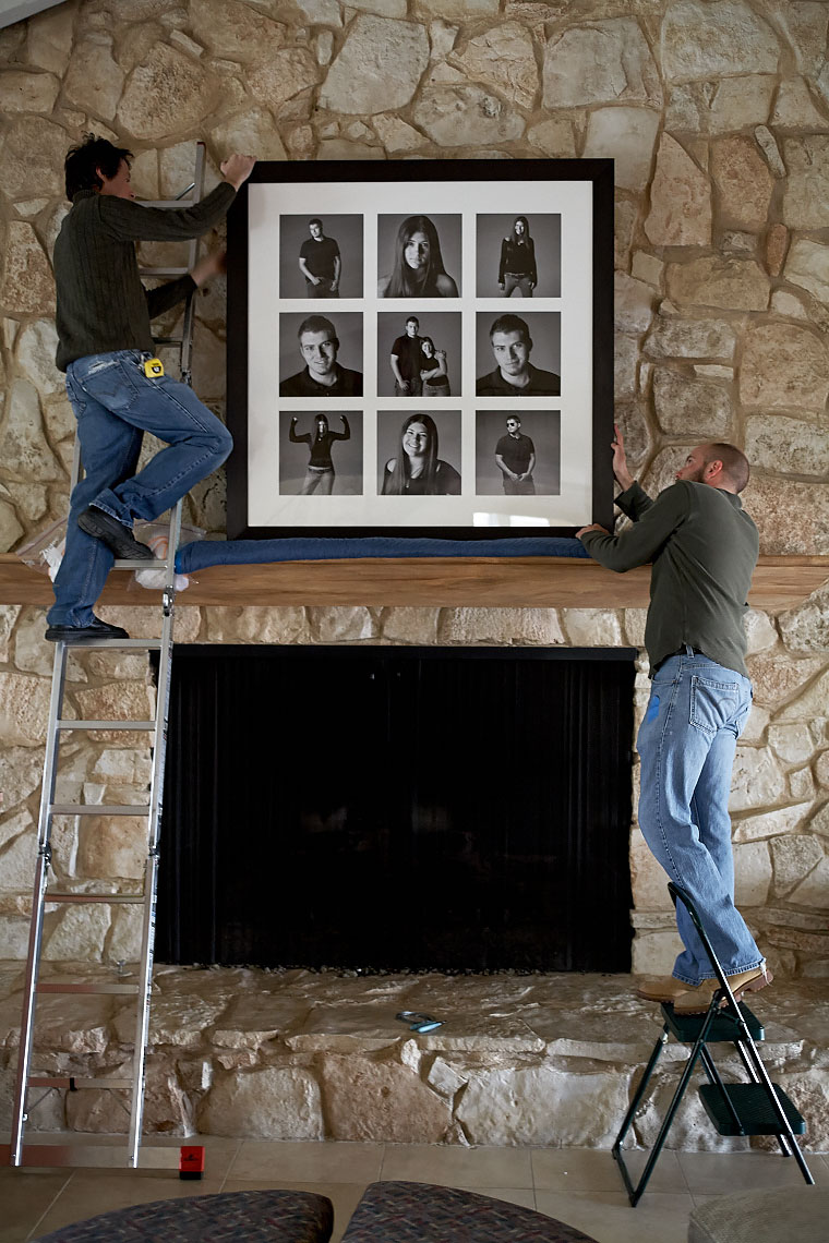 Hanging a 9 picture grouping