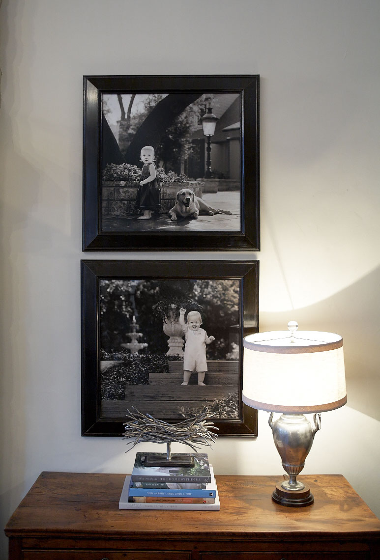 Gillikin  home gallery wall collection of portraits by Dallas, Texas photographer John Derryberry Photography