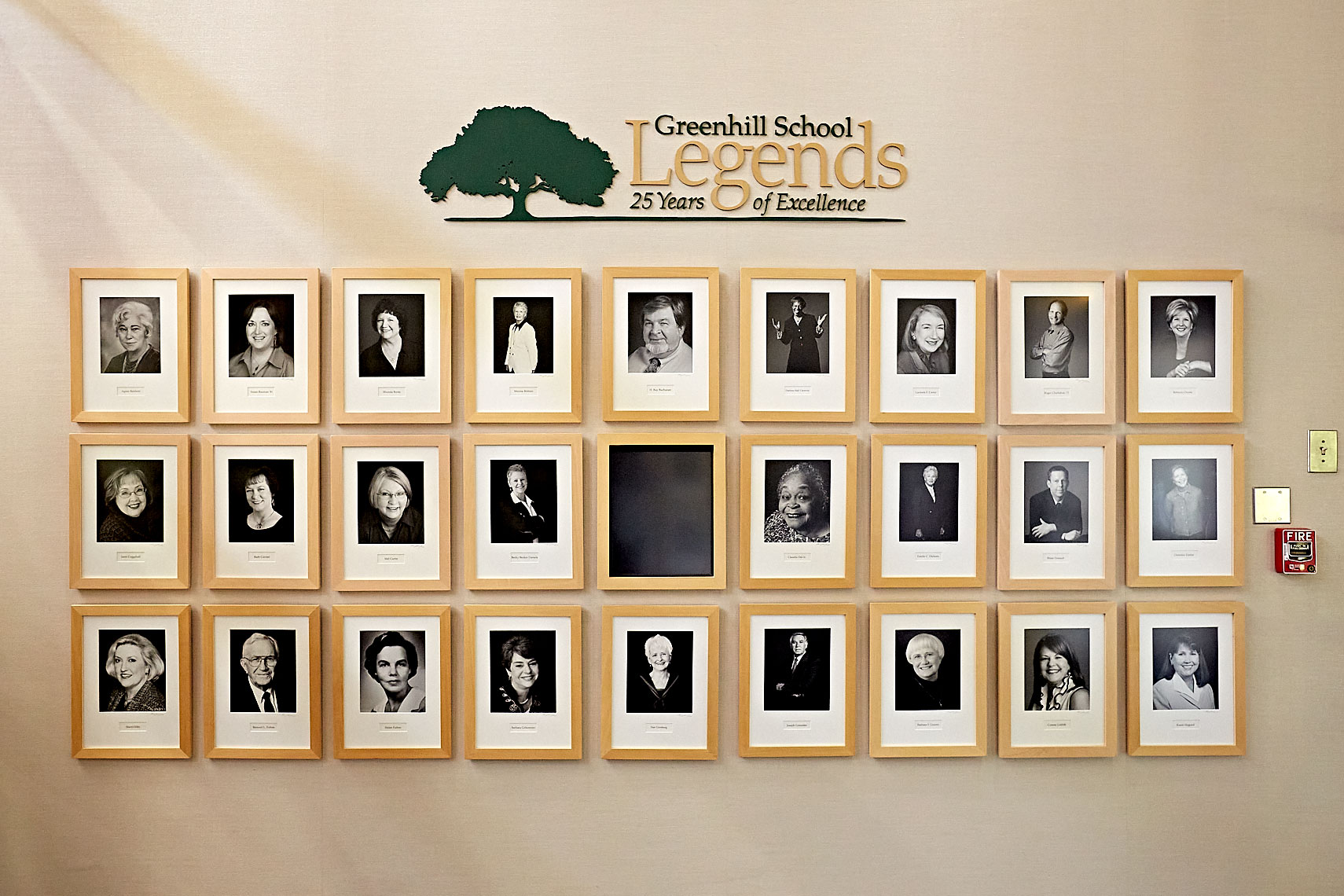 Greenhill School Legends Portrait Gallery in the library  in Dallas, Texas by photographer John Derryberry Photography